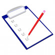 Clipboard with pencil — Stock Vector