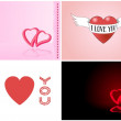 Stock Vector: Valentine card set