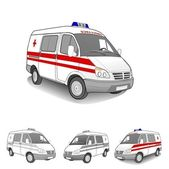 Ambulance car set — Stock Vector
