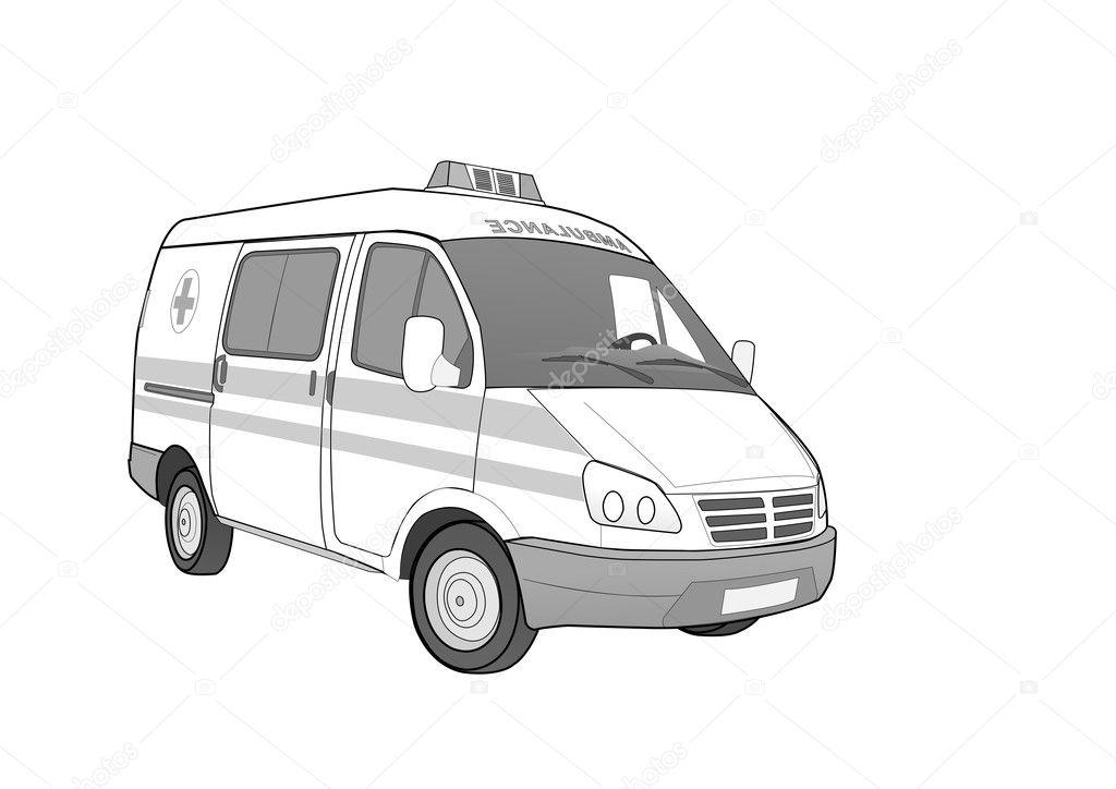 Ambulance Car Drawing Ambulance Car Vector