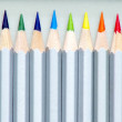 12 Color pencils — Stock Photo