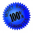 Stock Vector: Money back guarantee label
