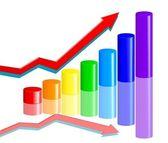 Rainbow business diagram — Stockvektor