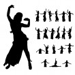 Stock Photo: Womdancers silhouette