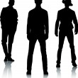 Royalty-Free Stock Vector Image: Silhouette fashion men