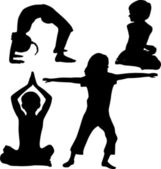 Kids yoga — Stock Vector