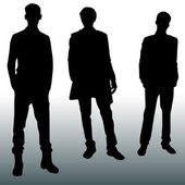 Silhouette fashion men — Stock Vector