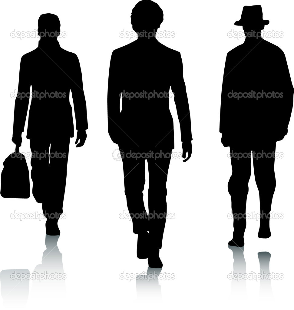 Silhouette fashion men — Stock Vector #3134373