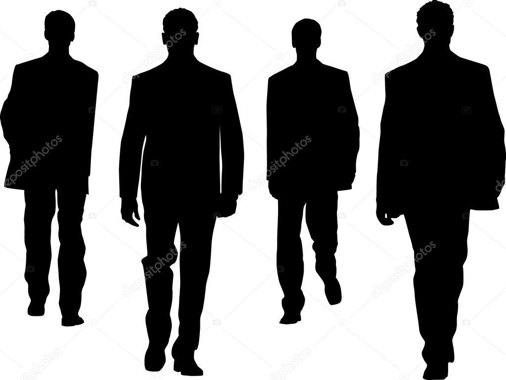 Silhouette fashion men — Stock Vector © sattva #3134394