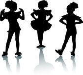 Small ballerinas — Stock Vector