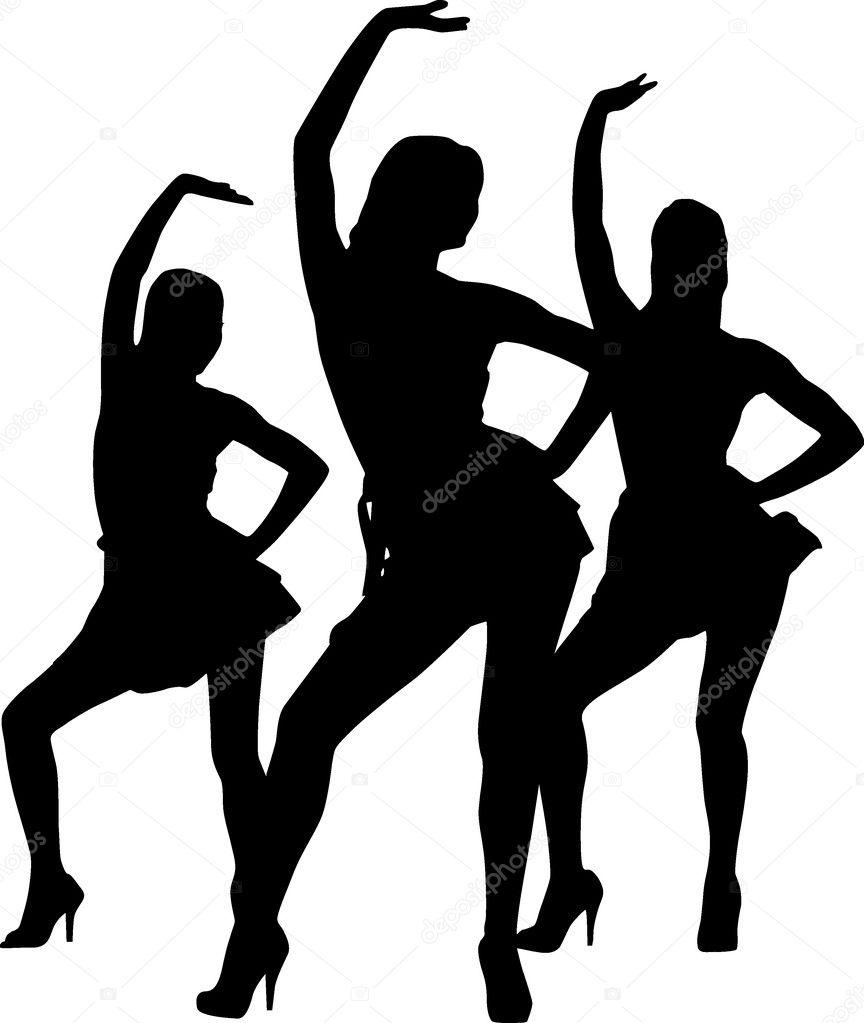 Little Girl Dancing Stencil |Pretty Girl Dance Stencil