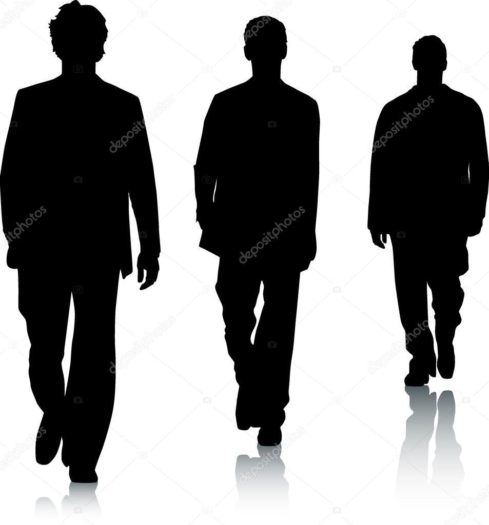Silhouette fashion men — Stock Vector #3150115