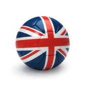 3D soccer ball with England flag — Stock Photo