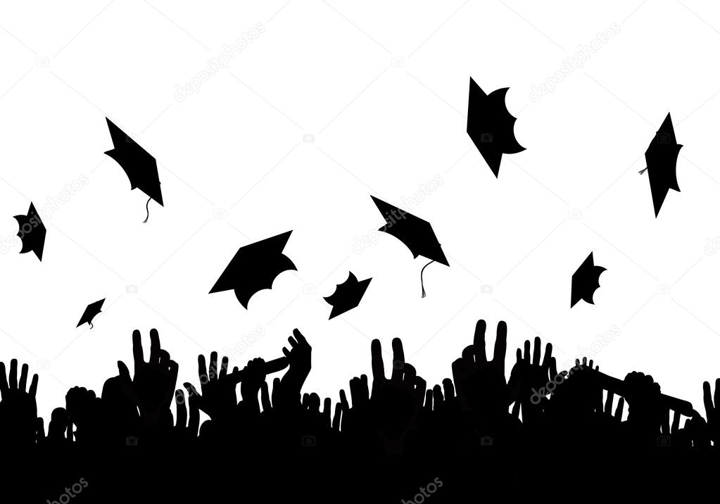 A crowd of graduates — Stock Photo #3239051