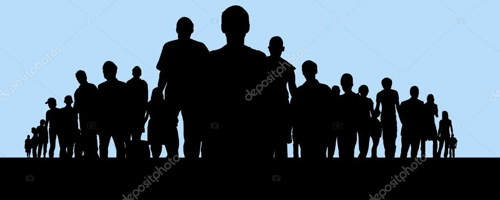 Illustration of a large crowd of  Stock Photo #3239063