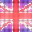 Dotted UK Flag - Lizenzfreies Foto