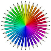 Pencil swatch — Stock Photo