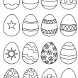 Stock Photo: Eggs you colour