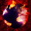 Stock Photo: Burning earth
