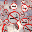 No smoking signs - Foto Stock