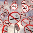 Stock Photo: No smoking signs