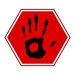 Stop hand — Stock Photo