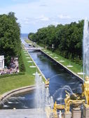 Peterhof palast anzeigen — Stockfoto