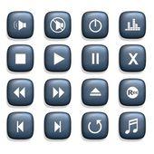 Media player ikony — Stock fotografie
