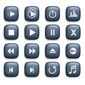 Media speler iconen — Stockfoto