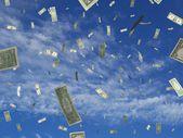 Money falling — Stock Photo