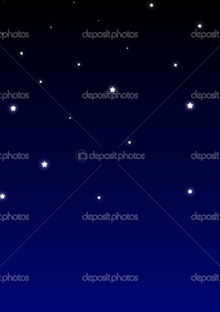 Glowing stars over a gradient blue and black background   Stock Photo #3272338