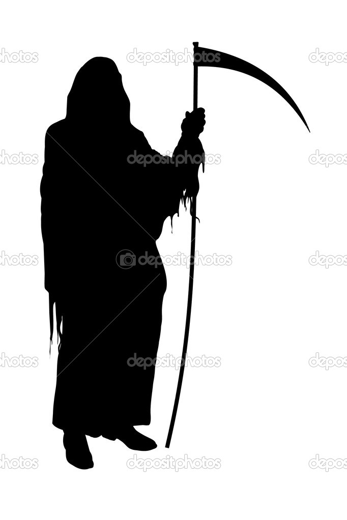 Illustrated silhouette of the Grim Reaper  — Stock Photo #3273135