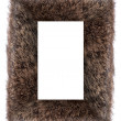 Faux fur frame — Stock Photo