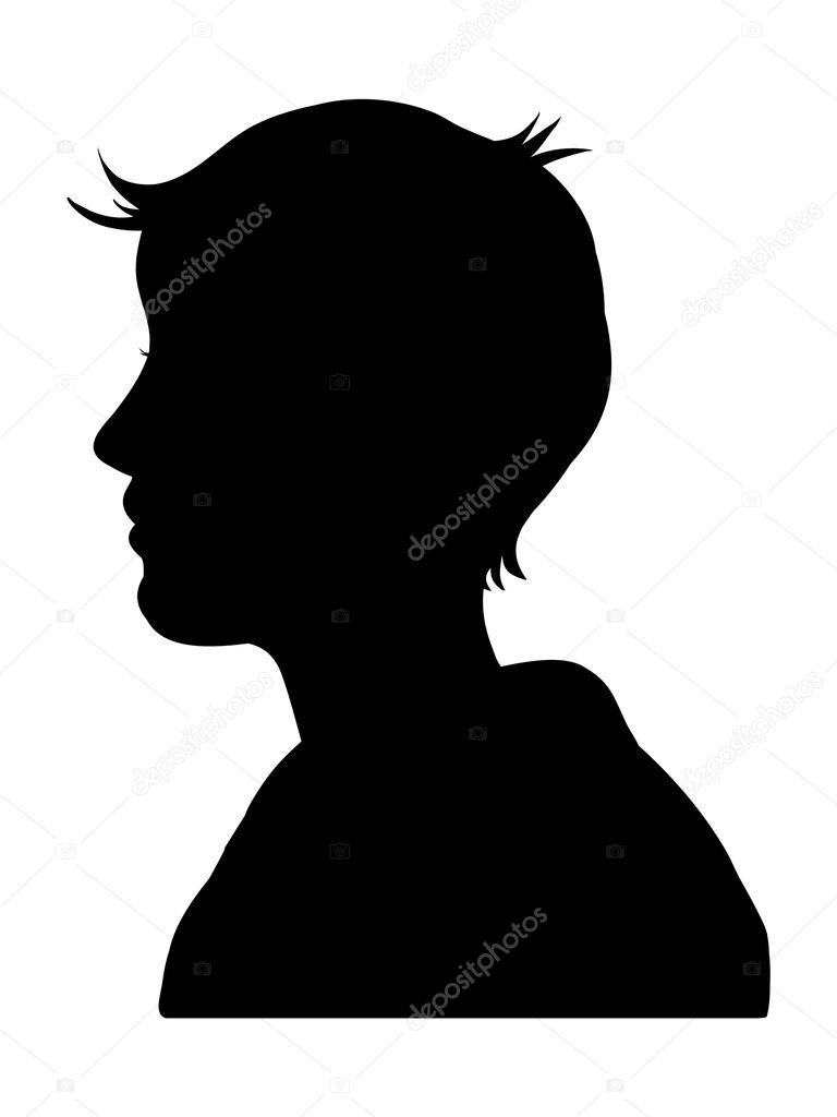 Illustrated silhouette of a male or female — Stock Photo #3285955