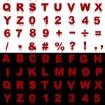 Blood Alphabet — Stock Photo #3431904