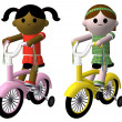 Royalty-Free Stock Photo: Girls riding bikes
