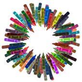 Crayon frame — Foto de Stock