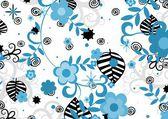 Kwiaty niebieski i czarny — Zdjęcie stockowe