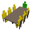 Meeting around a table — Stock Photo