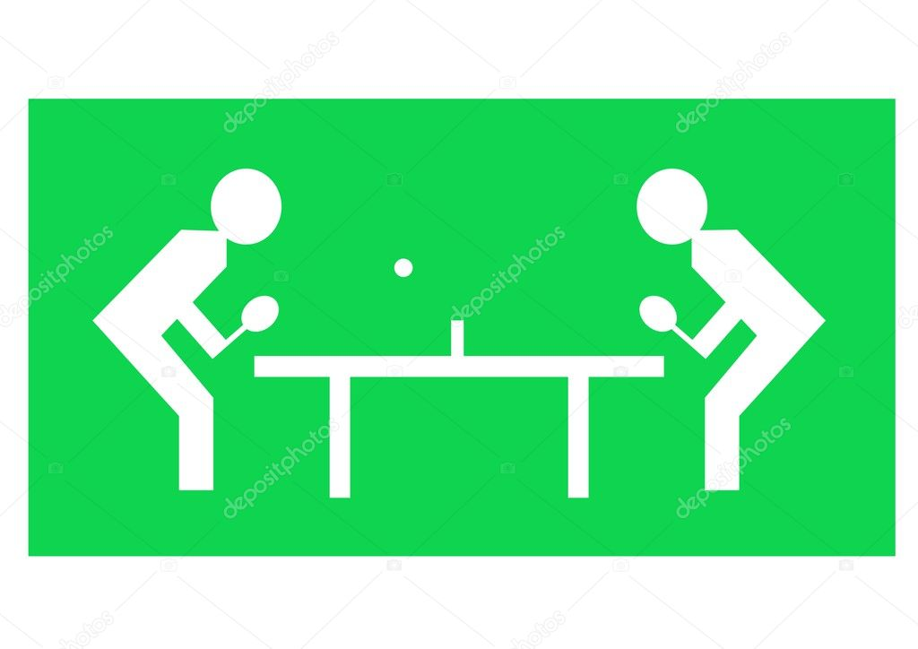 Illustration of two characters playing table tennis — Stock Photo #3524542