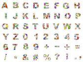 Flower alphabet — Stock Photo
