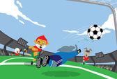 Mascot Soccer — Stock Vector