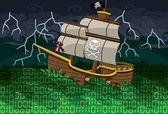 Pirate Sea — Stock Vector