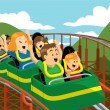 Vector de stock : Roller Coaster