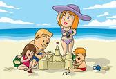 Beach Fun — Stock Vector