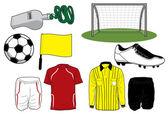 Icone calcio — Vettoriale Stock