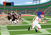 Football Run — Stock Vector