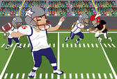 Football Throw — Stock Vector