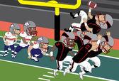 Football Touchdown — Stock Vector