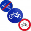 Differerent bicycle track road sign - Foto Stock
